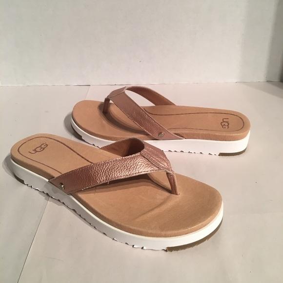 1a5370db745 Ugg Women's Lorrie Metallic Rose Gold Sandals